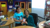 Giselle had a special journal autographed by Ms. Ruiz-Flores!