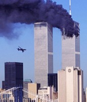 the plane hitting the second tower