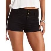 pantalones cortos negros ($veinte)