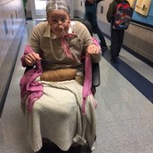 Grandma Gomez welcoming students