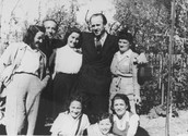 Schindler Poses With Saved Jews