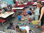 Mrs. Valentino has them building