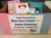 We collect Books for Babies for newborns and their families.