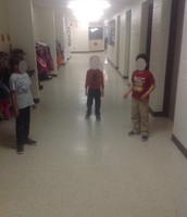 students using dramatization to tell their story