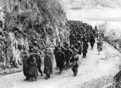 What were the Death Marches?