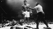 Ali knocks out phantom straight out.
