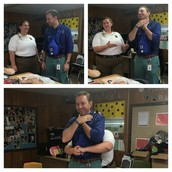 Wore the vest to show proper abdominal thrusts w/ EMS at Coffee w/ the Principal!