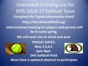 DHS 2016-17 Softball