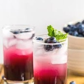 Cool Lime And Blueberry Refresher