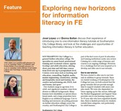 Jose and I have an article published in CILIP Update magazine!