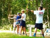 Camp Bernie's archrey!