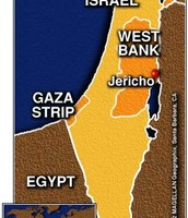 Map of Jericho, Israel