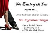 Ballroom Dance Club: Argentine Tango Social Dance