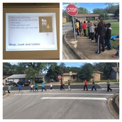 Thanks City of Austin for teaching our Panthers about safety when crossing the street!