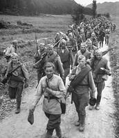 Soviet troops in Korea, October 1945