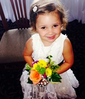 Eva was a flower girl in my brothers wedding!