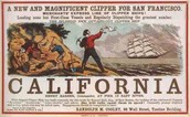 """Advertisement about the Gold in """"California"""""""