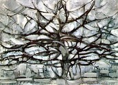 Piet Mondrian,Grey Tree