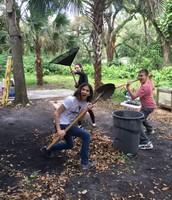Ashley, Kyle and Kai go Ninja on the landscaping