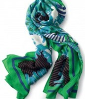 The Union Square Spring Green Mixed Print Scarf