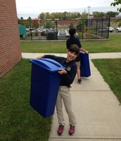 New recycling bins delivered to all classrooms!