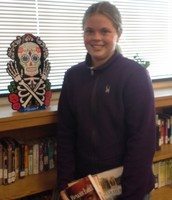 1st place winner with her new books