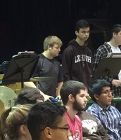 Patric Corrocher in the Percussion Section.