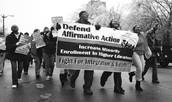 Demonstrators in favor of race based affirmative action