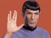 Spock doing the Vulcan salute