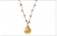 La Folie Necklace in Purple