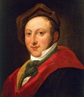 Gioachino Rossini, oil on canvas by an unknown artist
