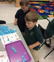 Winter word building with Nick and Tyler