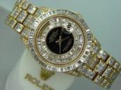 Rolex Gold Diamond Watch