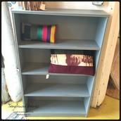 Blue-Gray Low Bookshelf: $125