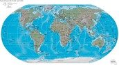 Map of the World with Coordinates.