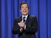 Jimmy Fallon hosting his show.