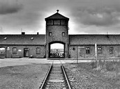 The main entrance to Auschwitz concentration camp  (Gates of Hell)
