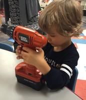 Wyatt exploring a drill...