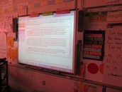 Fifth grade reviewing writing scoring to prepare for March SOL test