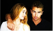Actors Shaliene Woodly and Theo James