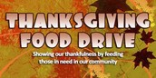 Thanksgiving Food Drive and Thank you