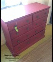 $165 - Vintage Red Dresser
