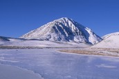 The Gobi Desert Mountains in the Winter.
