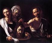 Salomé con la cabeza de Juan el Bautista, Caravaggio (1607)