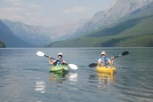 Kayaking in Montana with her aunt