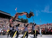 Performers with Dragon