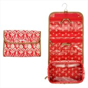 Hang On Travel Case - Red Ikat
