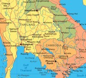 Cambodia on a Map