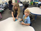Exploring the texture of play dough