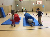 Tunnels are fun in Physical Education!